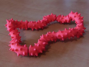 Twisting Links Fidget - Spikes in White Strong & Flexible