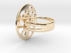 RING LOBULAR Size 7 in 14K Yellow Gold