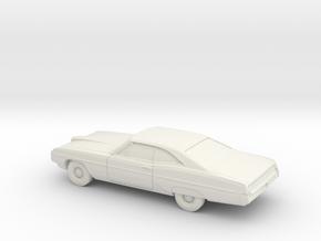 1/87 1968 Pontiac Bonneville Coupe in White Natural Versatile Plastic