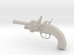 """Flintlock Pistol 4.5"""" in Natural Sandstone"""