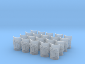 Smooth Tiki Heads in Smooth Fine Detail Plastic