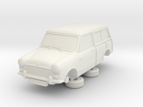 1-64 Austin Mini 67 Estate Clubman in White Strong & Flexible