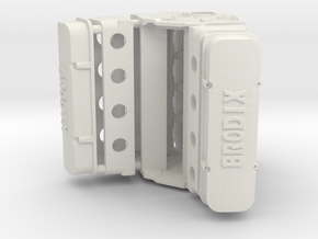 Brodix BBC 1/12 with Oil Pan in White Natural Versatile Plastic