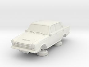 1-64 Ford Cortina Mk1 4 Door in White Natural Versatile Plastic