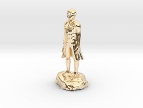 Billy, the demonic kid, in aristocrat attire. in 14k Gold Plated Brass