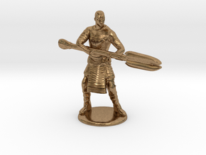 Jaffa  Attack Pose - 35mm  in Natural Brass