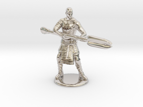Jaffa  Attack Pose - 35mm  in Rhodium Plated Brass