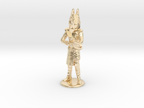 Jackel Guard With Staff - 20 mm in 14k Gold Plated Brass