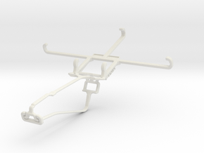 Controller mount for Xbox One Chat & Huawei Ascend in White Natural Versatile Plastic