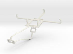 Controller mount for Xbox One Chat & Lava Iris Fue in White Natural Versatile Plastic