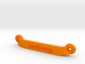 CW01 Chassis Brace - Rear - Unimog in Orange Processed Versatile Plastic