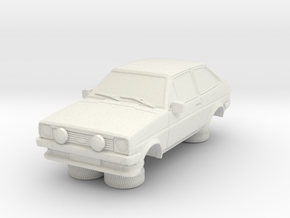 1-64 Ford Fiesta Mk1 Xr2 in White Natural Versatile Plastic