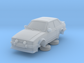 1-64 Ford Escort Mk3 2 Door Rs Turbo in Smooth Fine Detail Plastic
