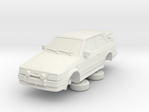 1-64 Ford Escort Mk4 2 Door Rs Turbo Whale Tail in White Natural Versatile Plastic