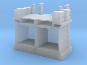 Hoogespoorbrug - Landhoofd en pijler in Smooth Fine Detail Plastic