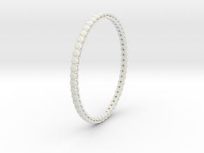"""Bangle simple """"diamonds"""" 4 in White Natural Versatile Plastic"""