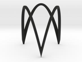 Triangle circle version 1 in Black Natural Versatile Plastic