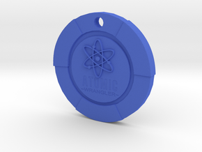 Atomic Wrangler Chip Pendant in Blue Strong & Flexible Polished