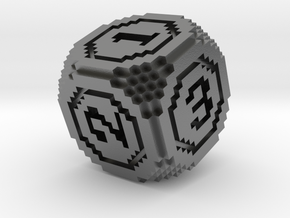 8-Bit Pixel Die in Natural Silver