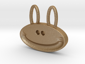 happy monkey happy bunny in Matte Gold Steel