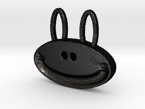 happy monkey happy bunny in Matte Black Steel