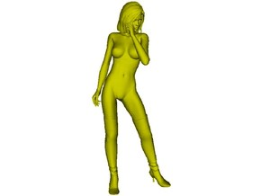 1/24 scale nose-art striptease dancer figure C in Smooth Fine Detail Plastic