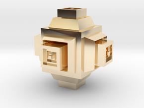 MandalaBox in 14K Yellow Gold: Small