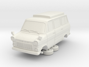 1-87 Ford Transit Mk1 Short Base Camper Van (repai in White Natural Versatile Plastic