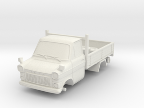 1-76 Ford Transit Mk1 Short Base Pickup Truck in White Natural Versatile Plastic
