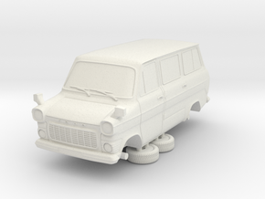 1-64 Ford Transit Mk1 Short Base Van Mini Bus in White Natural Versatile Plastic