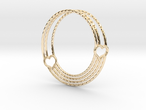 Coeur de Mobius in 14k Gold Plated Brass: Large
