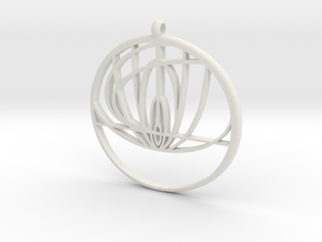 John Titor Ornament  in White Natural Versatile Plastic