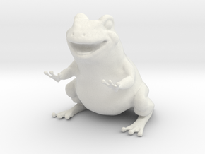 Frog figurine  in White Strong & Flexible