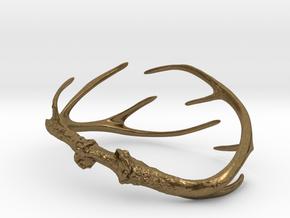 Antler Bracelet - Child size (65mm) in Natural Bronze