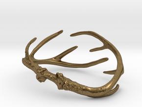 Antler Bracelet - 80mm in Natural Bronze