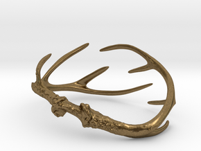 Antler Bracelet - Child size small (55mm) in Natural Bronze