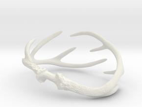 Antler Bracelet Medium/Small (75mm)  in White Natural Versatile Plastic