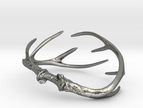 Antler Bracelet - Child size small (55mm) in Polished Silver