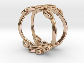 Queen of Hearts Ring in 14k Rose Gold Plated Brass