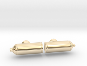 Spray Paint Can Cufflinks in 14K Yellow Gold