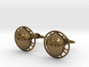 Bilbo's acorn cufflinks in Natural Bronze