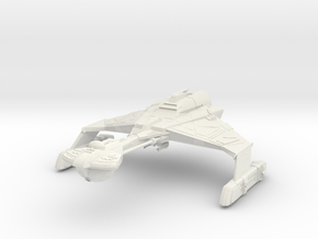 "Dtinga Class  BattleCruiser  2.2"" in White Natural Versatile Plastic: Extra Small"