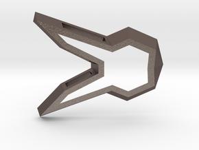DVA Bunny Charm in Polished Bronzed Silver Steel