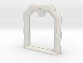 Sci-Fi Door (Open) - 28mm - MDF Building Detail in White Strong & Flexible