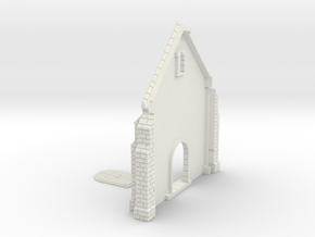 HORelM0131 - Gothic modular church in White Natural Versatile Plastic