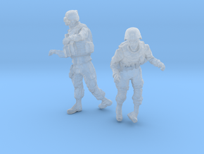 1-24 Military Zombie Set 5 in Smooth Fine Detail Plastic