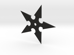 Shuriken (Ninja Star) in Black Natural Versatile Plastic