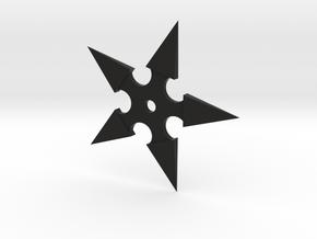 Shuriken (Ninja Star) in Black Strong & Flexible