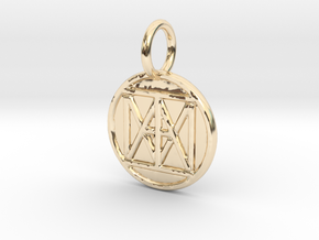 "United ""I AM"" Creator Keychain in 14K Yellow Gold"