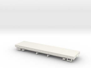 Sn3 28ft flat car  in White Natural Versatile Plastic
